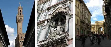 ヴェッキオ宮殿の鐘楼/カルツァイウォーリ通り(VIA DEI CALZAIUOLI)