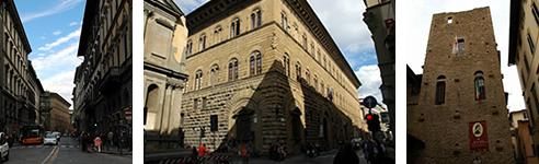 「マルテッリ通り(VIA DE MARTELLI)」/「メディチ・リッカルディ宮殿」/ダンテが生まれた家