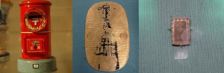 日本のお金や貯金箱も展示されています