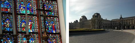 ノートルダム寺院のステンドグラス/ルーブル美術館