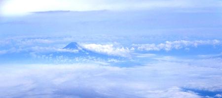 飛行機からの眺め(富士山)