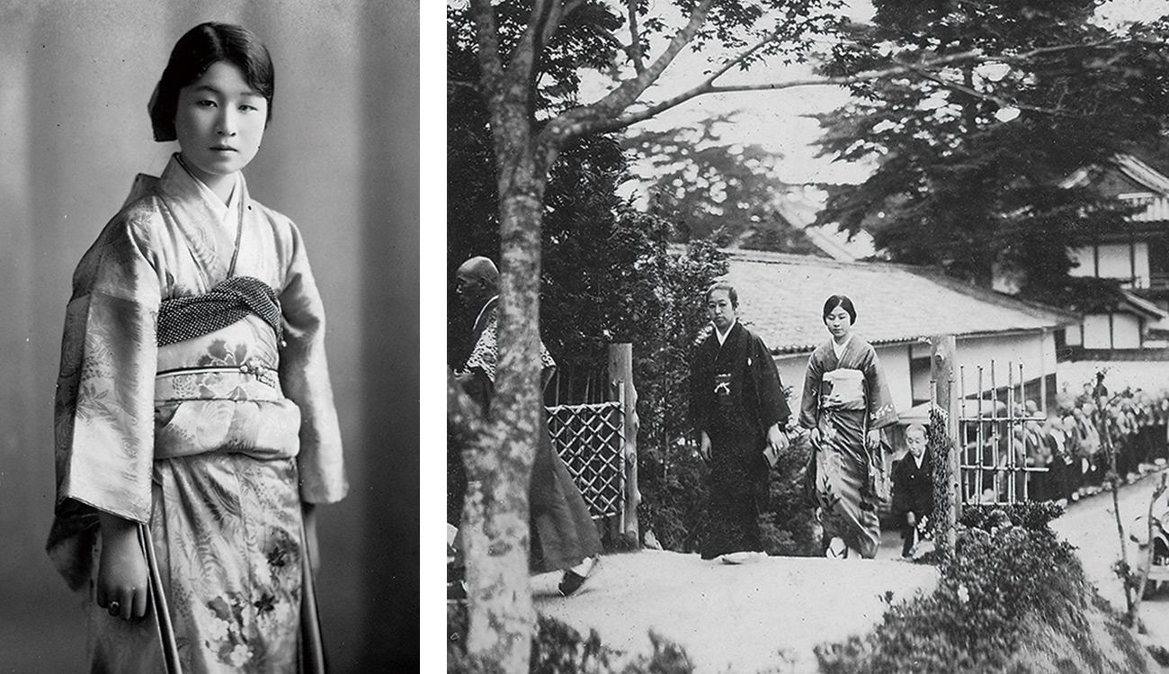 有栖川威仁親王妃慰子殿下と次女・實枝子女王が、圓福寺を訪れた様子が写真に残されている。上の写真では参道から直接「臥龍庵」のある方へ向かっている。